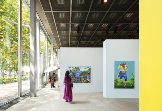 """展览""""刚果之美,1926-2015""""现场,2015年7月-11月,卡地亚当代艺术基金会,巴黎  photo:Luc Boegly"""