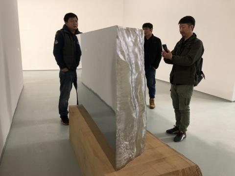 郭工 《切问-不锈钢B-5》 145×45×95cm 不锈钢 2017-2018