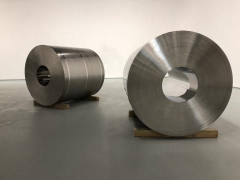 郭工 《切问-不锈钢C-2》 122×118×118cm 不锈钢 2017-2018