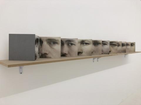 于霏霏 《情人的眼》 23×23cm 艺术家手工折页装帧于伦敦 2016