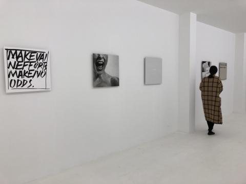 于霏霏 《AS artists,we comment》 50×50cm×5手绘、丝网印刷、数码喷绘、拼贴...2017