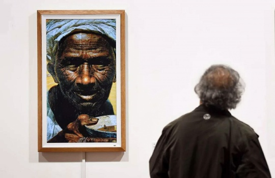 《父亲》罗中立 222×155cm 布面油彩 1980 中国美术馆藏