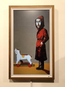 《肖像》曾梵志 200×150cm 布面油画 2004