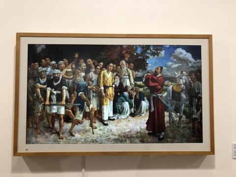《田横五百士》 徐悲鸿 198×355cm 画布油彩1928-1930 徐悲鸿纪念馆藏