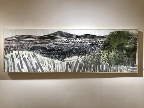 《山景》70×230cm 布面丙烯 2017