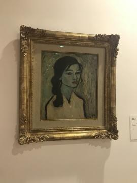 《女孩像1975-5》40×35cm 纸本油彩 1973