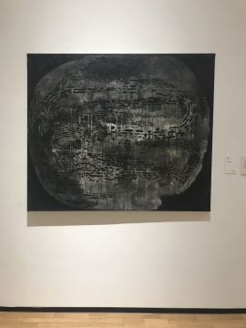"""《抽象 1986-5》 布面丙烯 160×130cm 1986年,是余友涵""""圆""""系列最早的作品"""