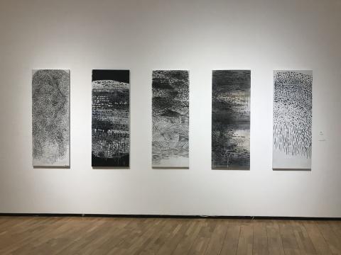 《抽象五联图》160×50cm×5 布面丙烯 2007