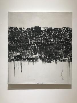 《抽象1990-12》98×87cm 抽象丙烯 1990