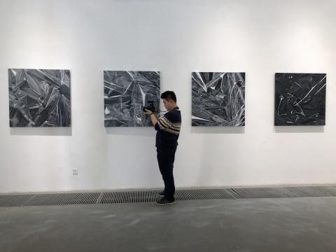 """朱晨 """"隐秩序"""" 系列布面油画 100x100cm 2016"""