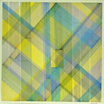 左月 《水的果实》 39x39cm纸上纤维勾线笔2016