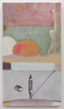《树与形》 68.5×39cm 布面丙烯 2007-2011