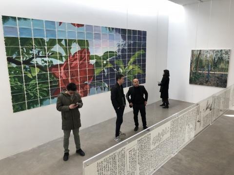 指纹画廊不定期系列性主题展《美术NO.1》一层现场