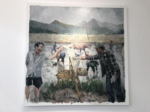 许力炜 《反艺术》 120×120cm 布面油画2017