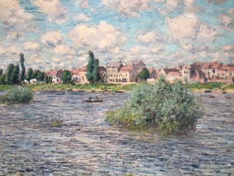 莫奈 《拉瓦古的塞纳河》 60×81cm 油彩画布 1879  估价:800万-1200万美元