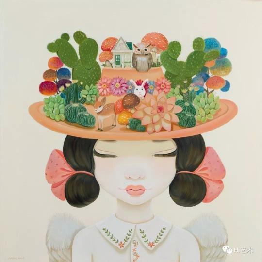 《理想的后花园》120×120cm布面油画2011