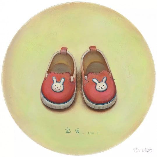 《宝贝》D.40cm布面油画2018