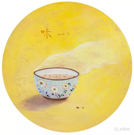 《陪伴-暖》D.40cm布面丙烯2017
