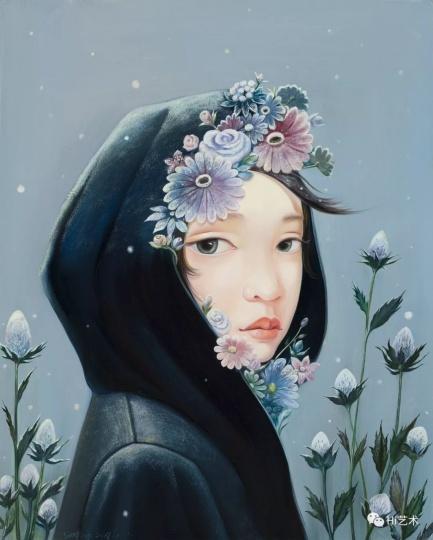 《雪人No.2》50×40cm布面油画2017