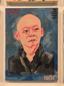 横尾忠则 《118幅肖像画系列》 33×24cm×118 布面油画 2014-2018