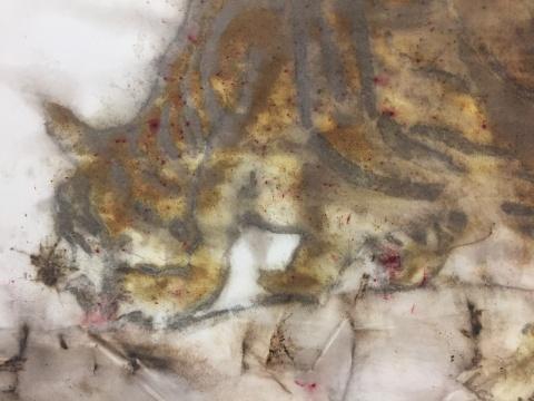 """蔡国强 《白声》 400×180cm """"动物大乐园""""展览委托创作2016"""