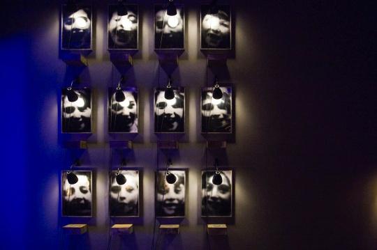 """《祭坛系列》,""""忆所""""展览现场,上海当代艺术博物馆"""