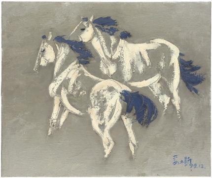《蓝鬃马》50X60cm 1999年