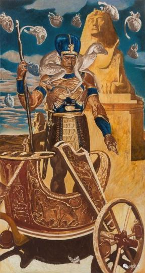 《偶像-埃及王子》 280×150cm 布面油画 2017