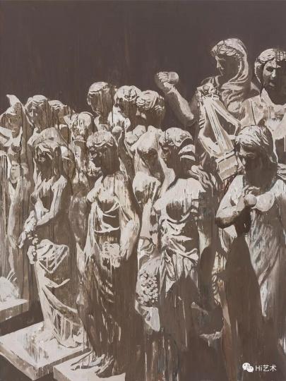 《陈列物-女神》 200×150cm 布面油画 2016