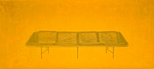 《沙发》81×183cm布面丙烯,丝网印刷 1999