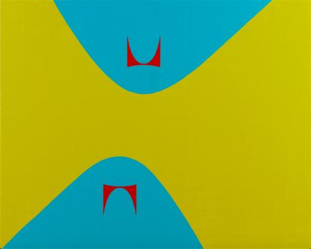 《利西茨基曲线 & 赫尔曼·米勒 2》 134.6×167.6cm布面丙烯,乙烯 2018