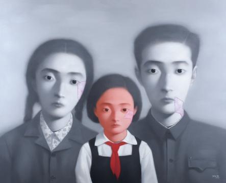 张晓刚《大家庭》