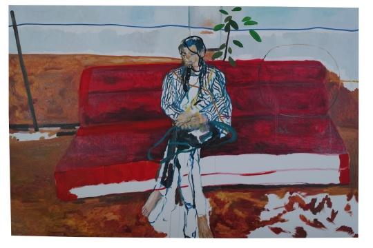 《红沙发4》 200x300cm 布面油画 2017