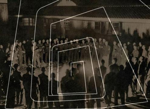 杨圆圆《人群 — 螺旋 A》,出自《大连幻景》系列,2017,艺术微喷,作品提供:艺术家与艾可画廊(入围2012第四届三影堂摄影奖并获得特尼基金会奖)