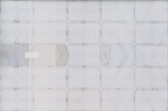 祁奋骏 《2:3,1:4 No1,a》 布面丙烯综合材料 40×60cm2018