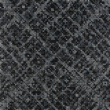 丁乙,《十示 2016-1》,椴木板上丙烯雕刻,240×240×6cm,2016