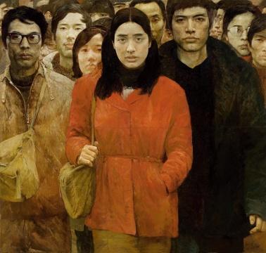 艾轩、何多苓《第三代人》180×190cm 布面油彩 1984 图片版权 © 龙美术馆