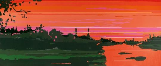 刘韡《紫气ZJ30033401》180×440cm 布面油彩 2009 图片版权 © 龙美术馆