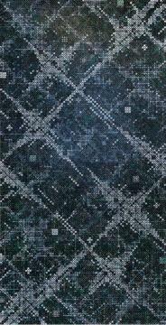 丁乙《十示 2015-8》480×240cm 椴木板上综合材料 2016 图片版权 © 龙美术馆