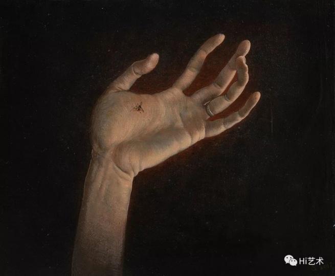 《拍蚊子的手》 25×30cm 木板坦培拉 2017