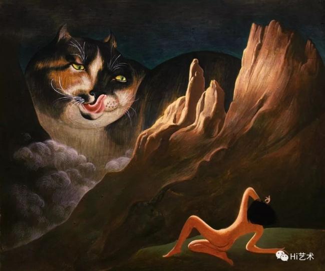 《猫域》 25×30cm 木板坦培拉 2017