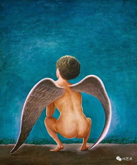 《天使在野》 30×25cm 木板坦培拉 2017