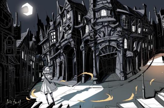 《彩虹坠入(Iris Fall)》黑白风格暗黑童话风解谜游戏