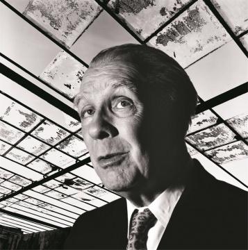 佩德罗·梅耶尔《阿根廷作家博尔赫斯》 98×96cm 艺术微喷 1973