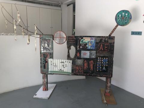 素人艺术节现场的李忠东装置作品