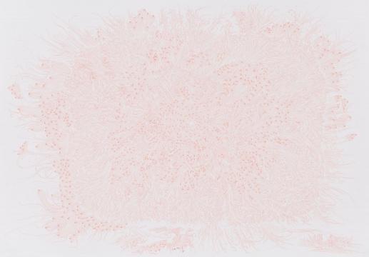 汪化 《无题》 纸上针管笔 57×79cm 2017