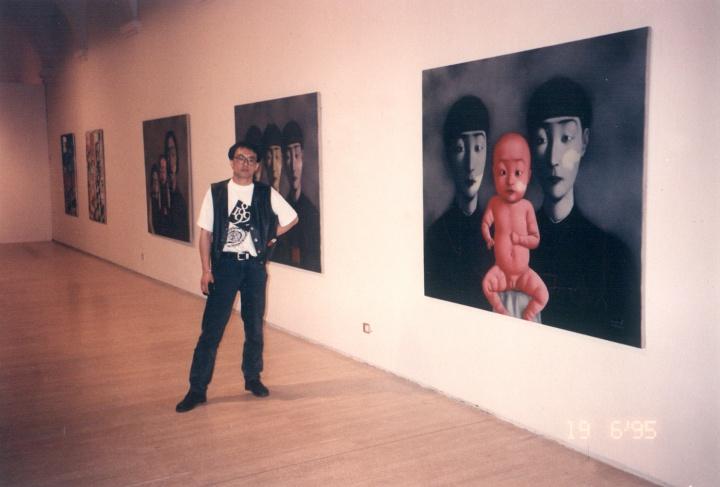 """1995年6月,西班牙巴塞罗那现代艺术博物馆,""""中国前卫艺术15年"""""""