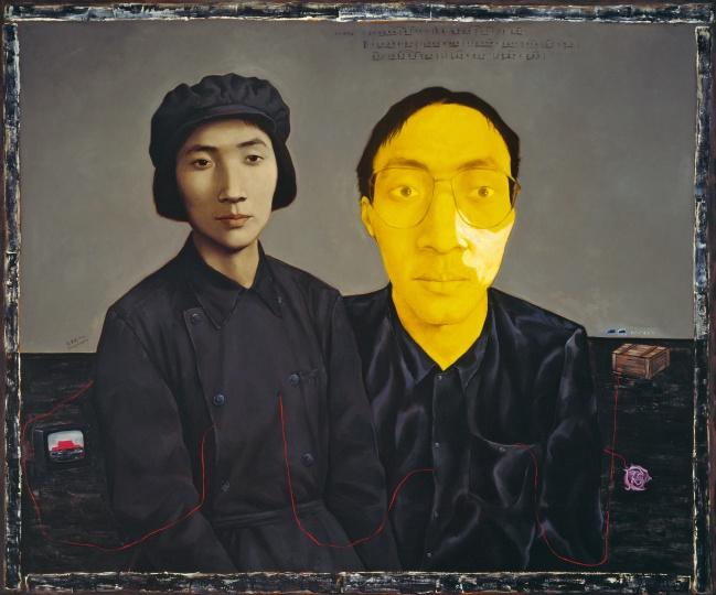 《母与子2号》150×180cm布面油画 1993