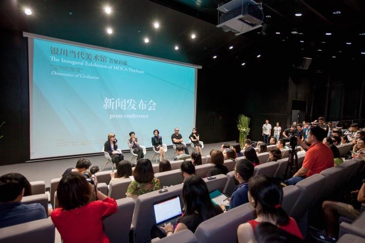 2015年8月,谢素贞主持了银川当代美术馆开馆首展的新闻发布会