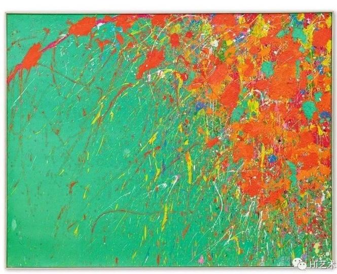 丁雄泉《红艳似火》177.8 x 228.6 cm 亚克力彩画布 1971